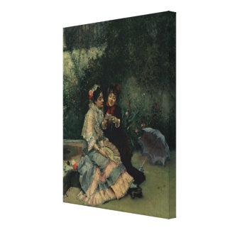 Two Spanish Women Canvas Print