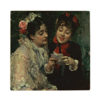 Two Spanish Women Wood Coaster