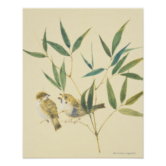 Two Sparrows Poster