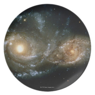 Two Spiral Galaxies 2 Plate