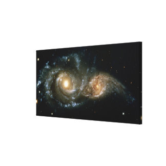Two Spiral Galaxies Canvas Print