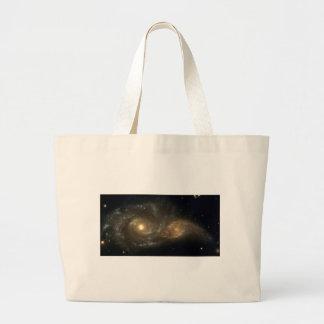 Two Spiral Galaxies (NGC220 and IC2163) Jumbo Tote Bag