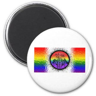 Two Spirit Flag Glass Design Magnet
