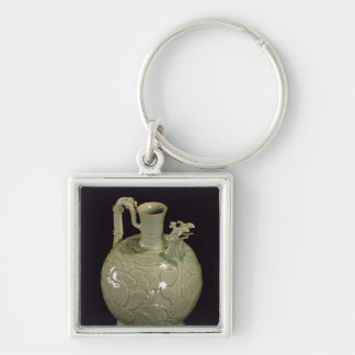 Two spouted jug with a leaf design key ring