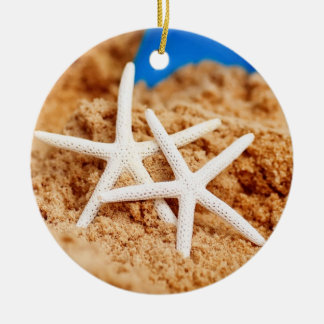 Two Starfish at the Beach Christmas Ornament