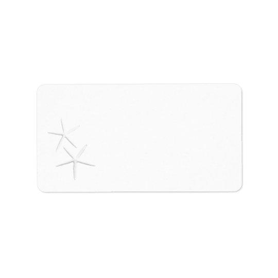 Two Starfish, Blank Address Labels