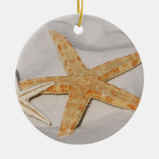 Two Starfish in the Sand Christmas Ornament