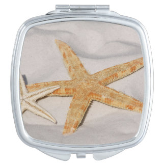 Two Starfish in the Sand Compact Mirror