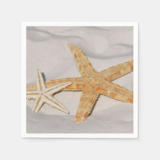 Two Starfish in the Sand Disposable Napkin
