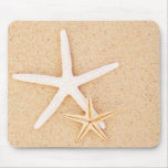 Two Starfish on a Beach Mouse Mat