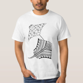 Two Stingrays Adult Coloring Shirt