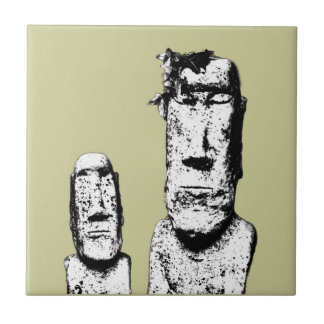 Two Stone Heads (the Eds) tile