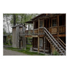 TWO STORY OUTHOUSE POSTER