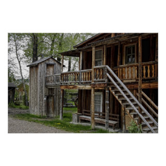 TWO STORY OUTHOUSE POSTERS