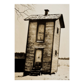Two Story Outhouse Print