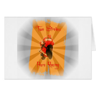 Two Strokes Greeting Card