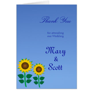 Two Sunflower Note Card
