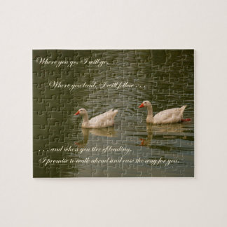 Two Swans - Message of Love Jigsaw Puzzles
