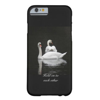 Two swans on a lake barely there iPhone 6 case
