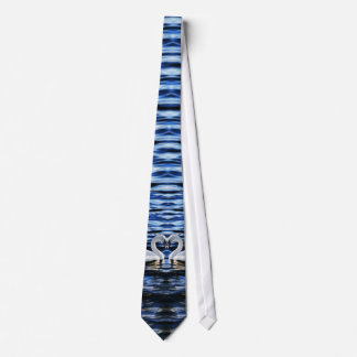 Two swans tie