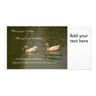 Two Swans - Wedding Theme Customised Photo Card
