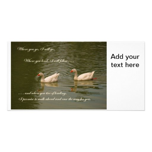 Two Swans - Wedding Theme Photo Card