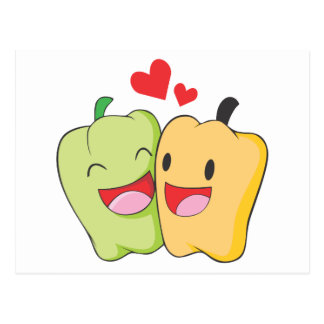 Two Sweet Bell Pepper Lovers Postcards