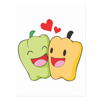 Two Sweet Bell Pepper Lovers Postcard