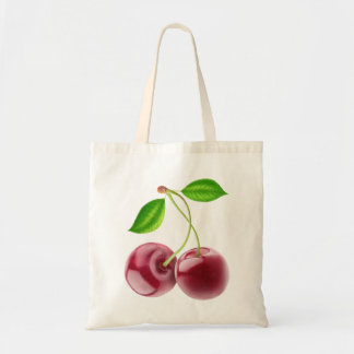 Two sweet cherries tote bag