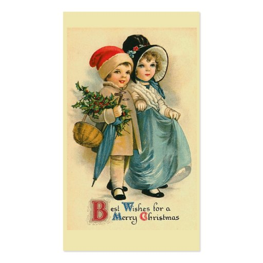 """""""Two Sweet Children"""" Christmas Gift Tag Business Card Templates"""