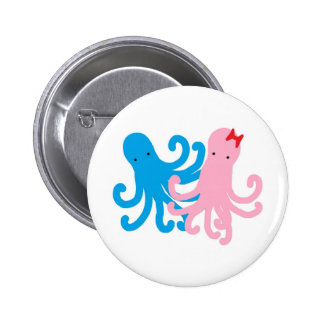Two Sweet Octopi Buttons