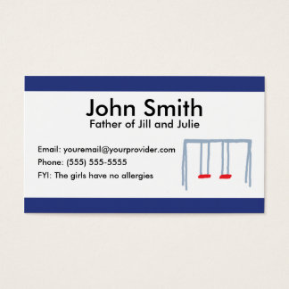 Two Swings Parent Calling Card