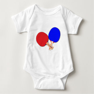 Two Table Tennis Bats Baby Bodysuit