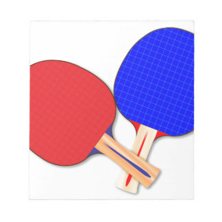 Two Table Tennis Bats Notepad
