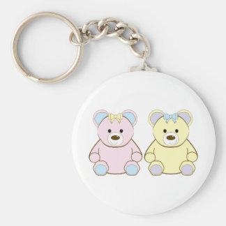 Two Teddies Key Chains