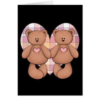 Two Teddy Bears Card