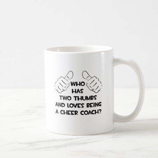 Two Thumbs .. Cheer Coach Coffee Mug