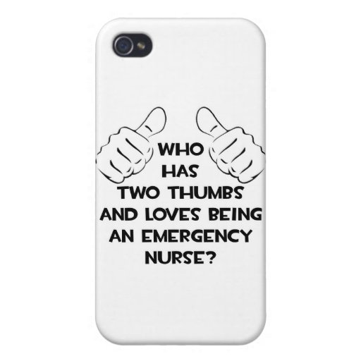 Two Thumbs .. Emergency Nurse iPhone 4/4S Cover