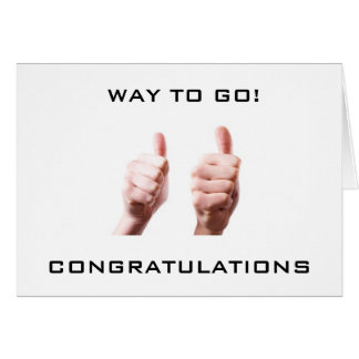 TWO THUMBS UP FOR **A JOB WELL DONE** GREETING CARD