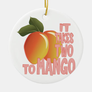 Two To Mango Round Ceramic Decoration