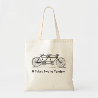 Two to Tandem Tote Bag