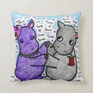 Two to Tango Hippos Cushion