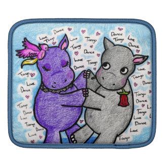 Two to Tango Hippos iPad Sleeves