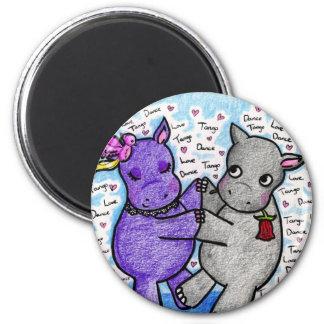 Two to Tango Hippos Magnet