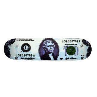 Two-Toes Jefferson Vintage Graphic Art Trick 18.1 Cm Old School Skateboard Deck