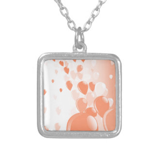 Two Tone Baloons Silver Plated Necklace