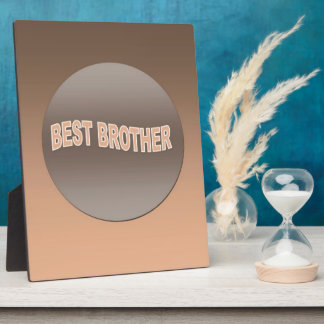 Two Tone Best Brother Photo Plaques