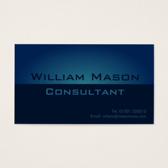 Two Tone Blue Gradient, Professional Business Card