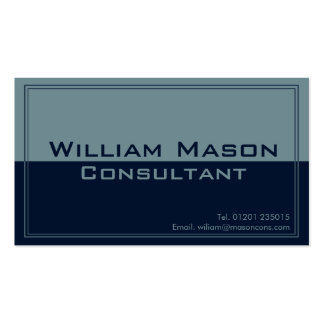 Two Tone Blue Grey, Professional Business Card