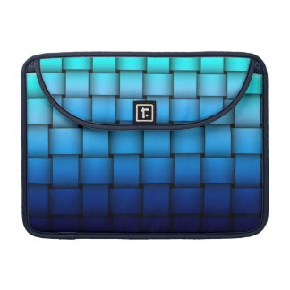 Two Tone Blue Plaided Macbook Sleeve